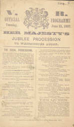 Advert for Queen Victoria's Golden Jubilee procession